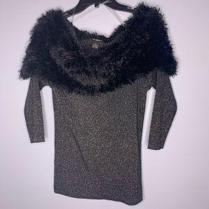 Lauren Michelle Sweaters - NWT Lauren Michelle faux fur off shoulder sweater